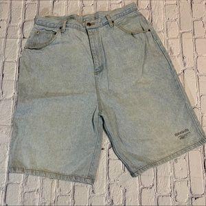 Vintage 90's Reebok Jean Denim Shorts Light Wash